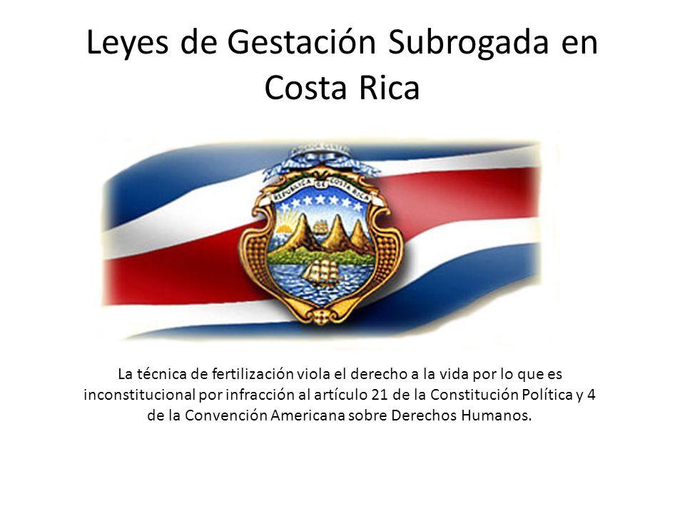 Leyes de Gestación Subrogada en Costa Rica