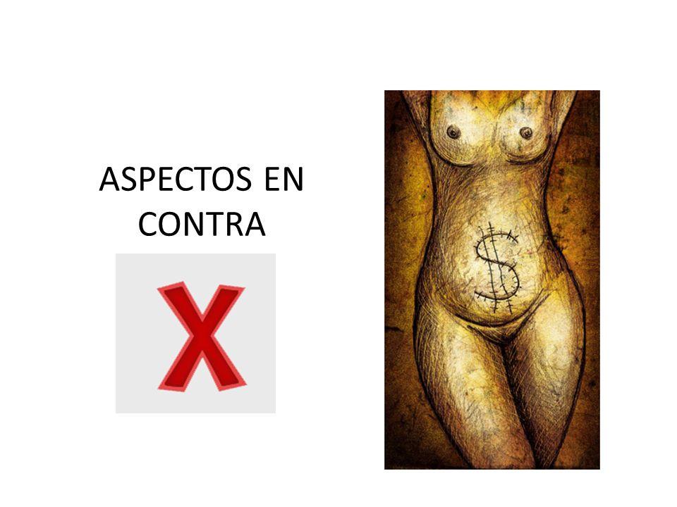ASPECTOS EN CONTRA