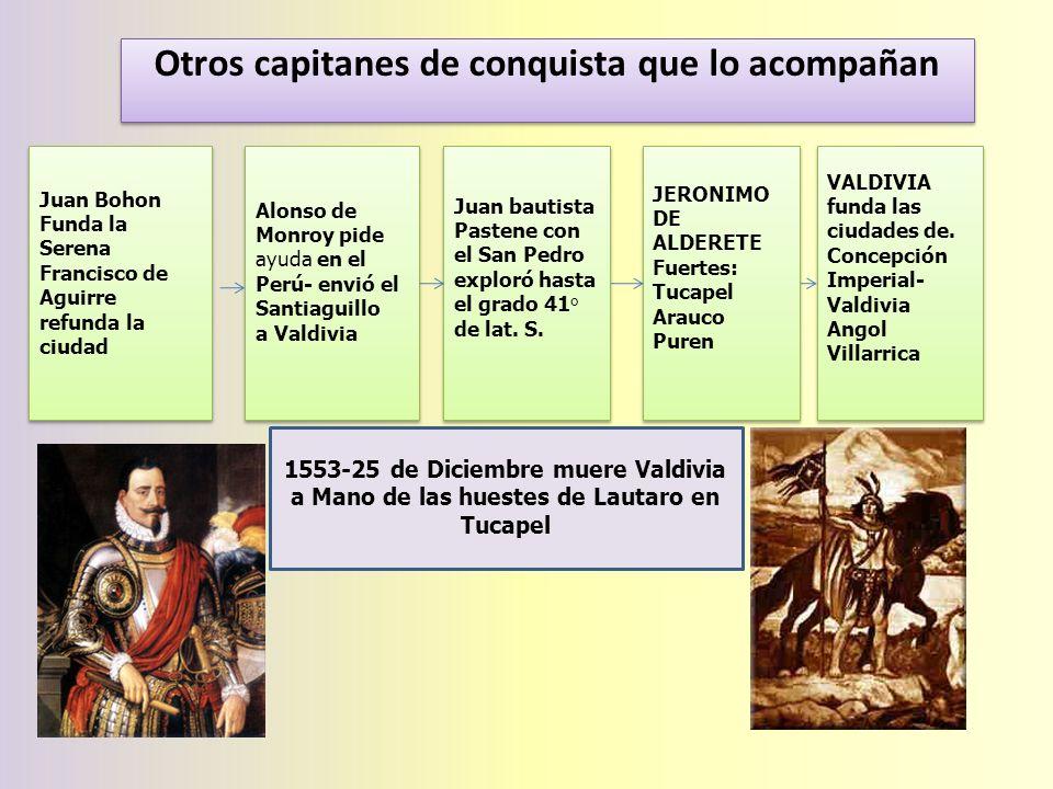 Otros capitanes de conquista que lo acompañan
