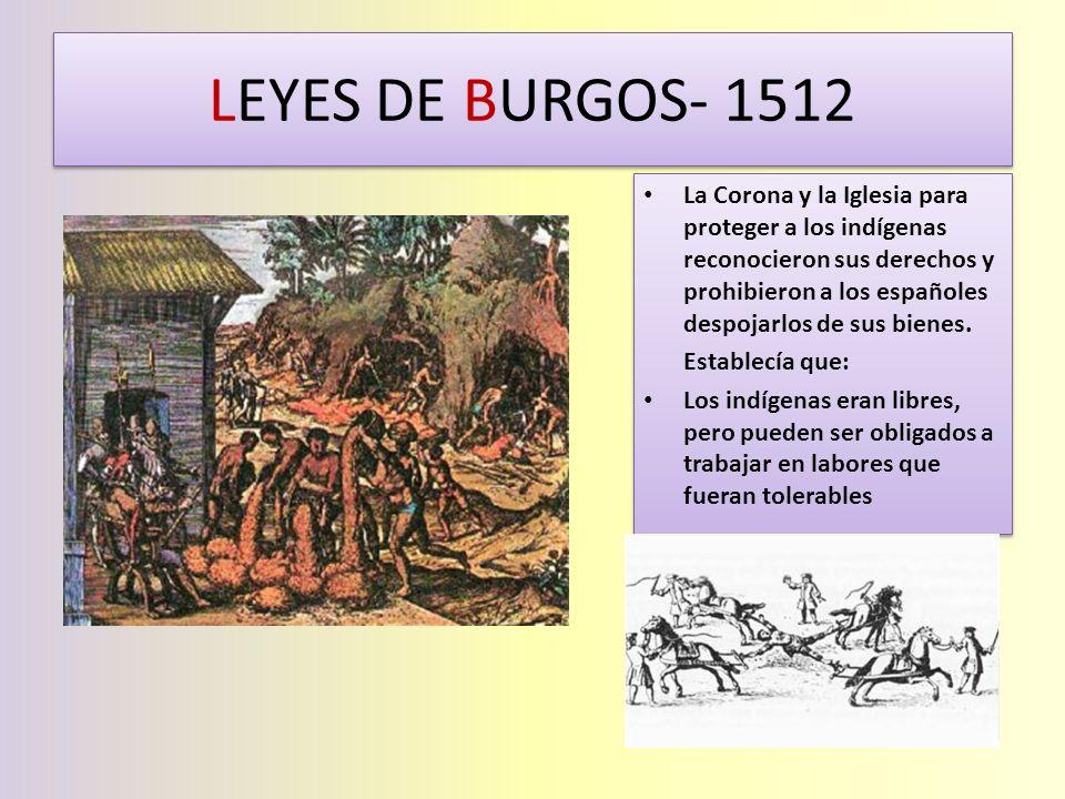 LEYES DE BURGOS- 1512