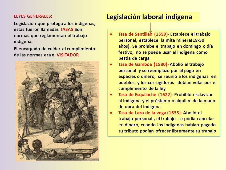 Legislación laboral indígena