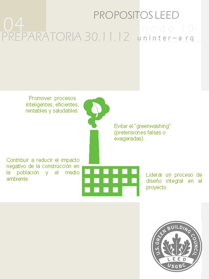 04 PREPARATORIA 30.11.12 PROPOSITOS LEED -n o d o 1 0-
