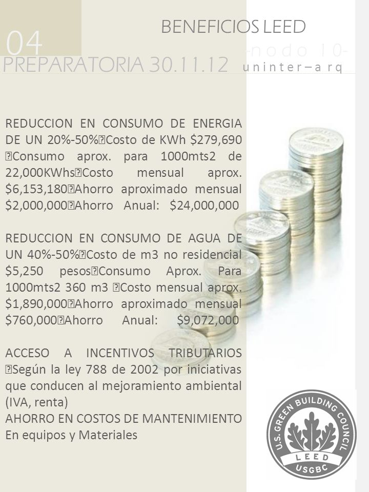 04 PREPARATORIA 30.11.12 BENEFICIOS LEED -n o d o 1 0-