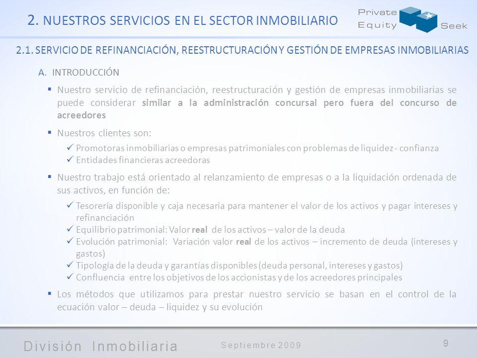 2. NUESTROS SERVICIOS EN EL SECTOR INMOBILIARIO