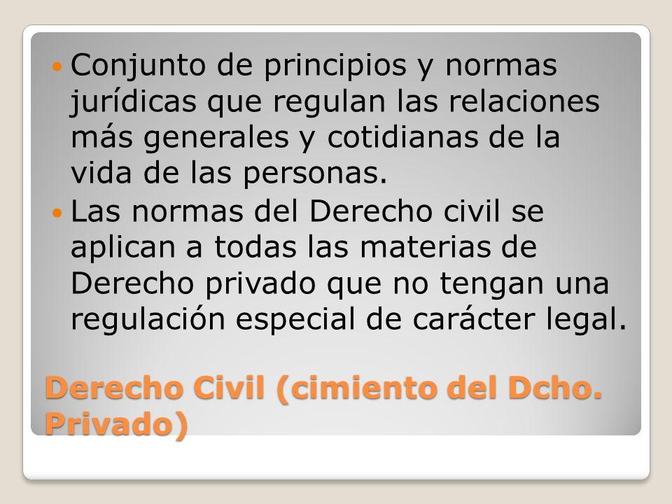 Derecho Civil (cimiento del Dcho. Privado)