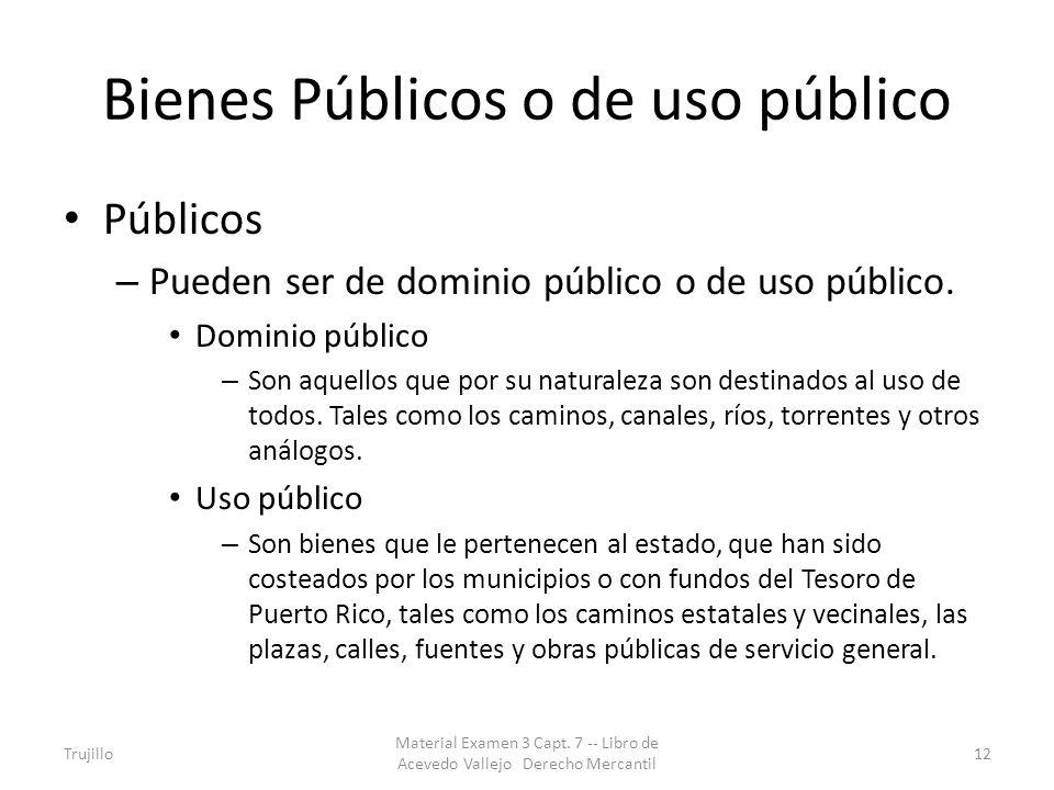 Bienes Públicos o de uso público
