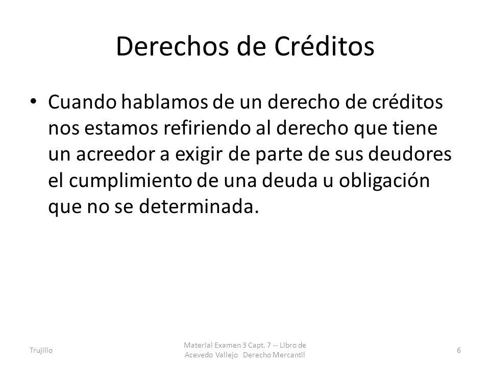 Derechos de Créditos
