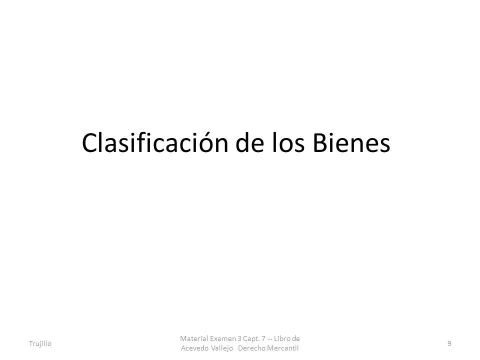 Clasificación de los Bienes