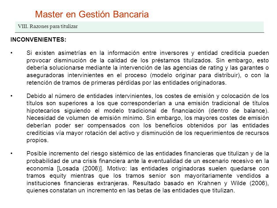 Master en Gestión Bancaria