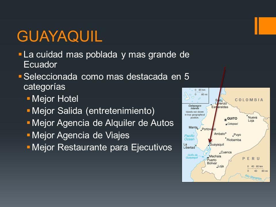 GUAYAQUIL La cuidad mas poblada y mas grande de Ecuador