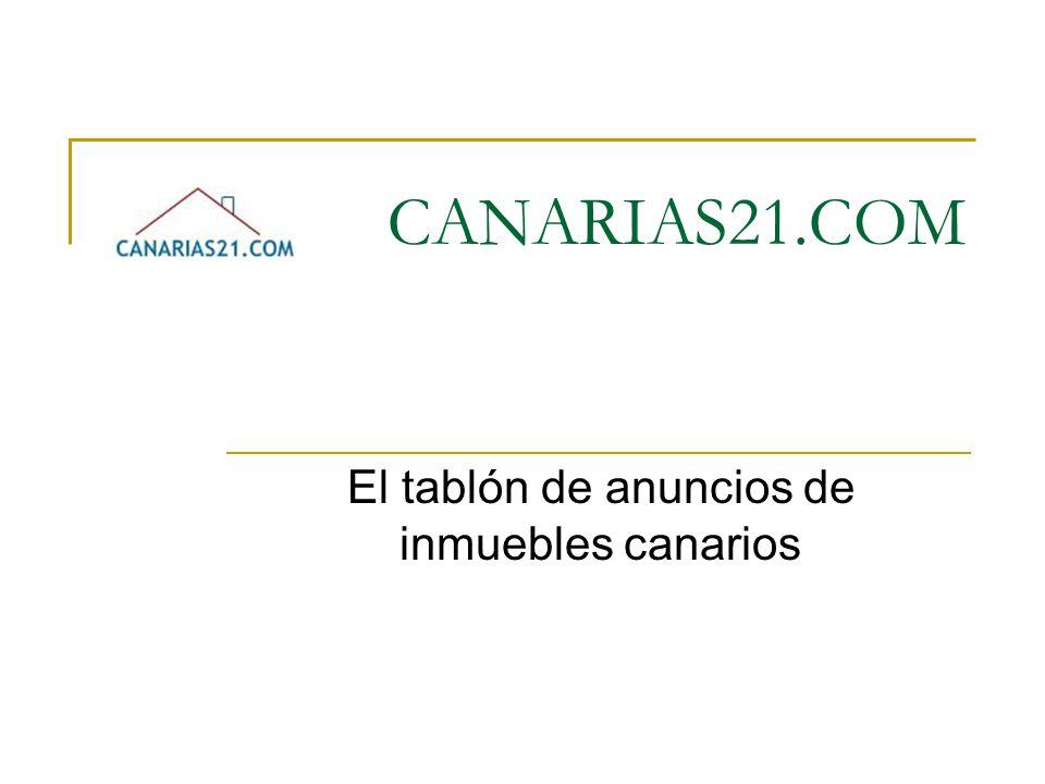 El tablón de anuncios de inmuebles canarios