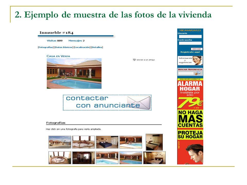 2. Ejemplo de muestra de las fotos de la vivienda