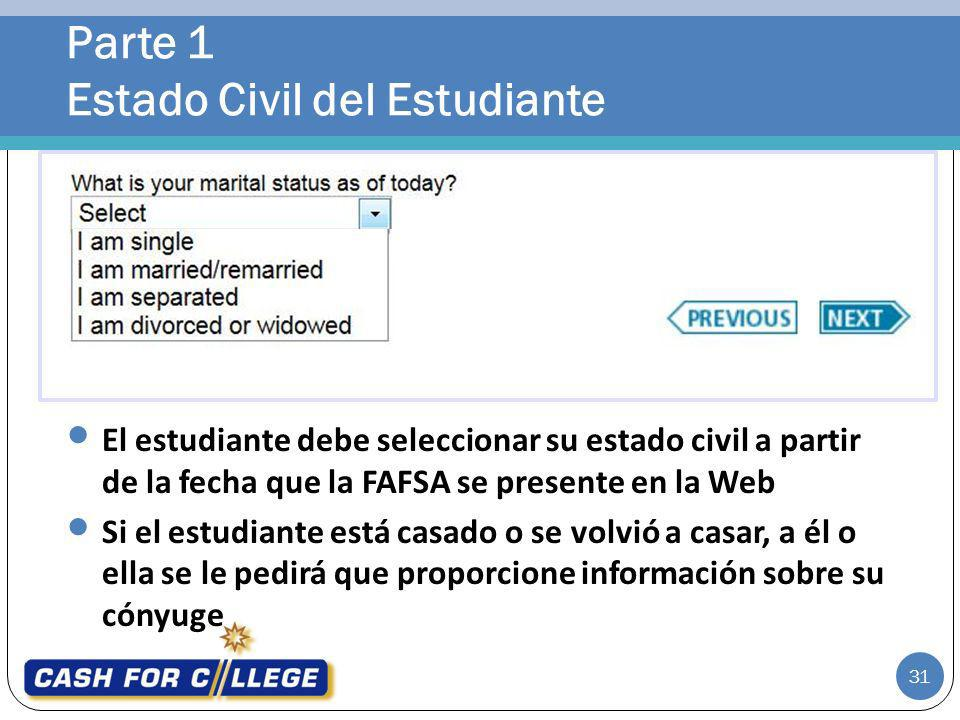 Parte 1 Estado Civil del Estudiante