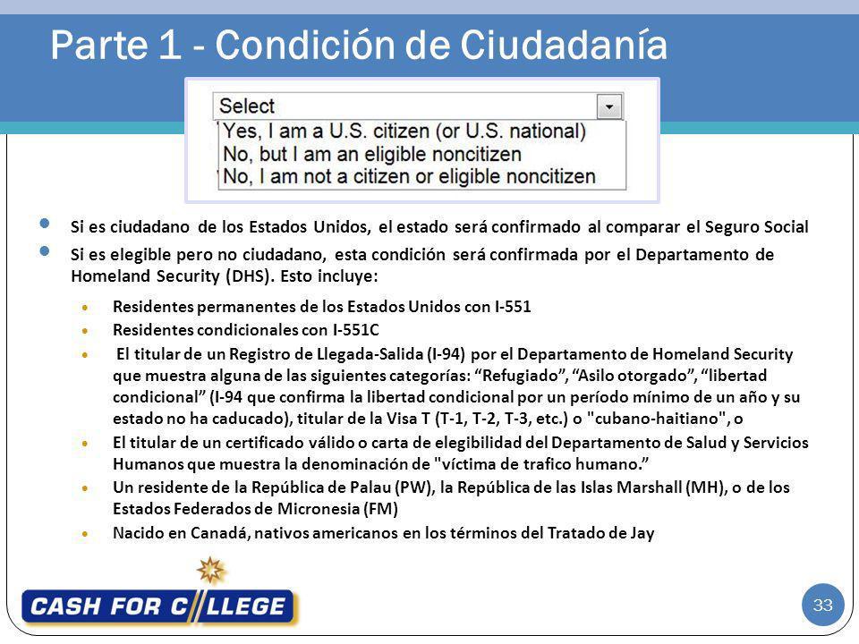 Parte 1 - Condición de Ciudadanía