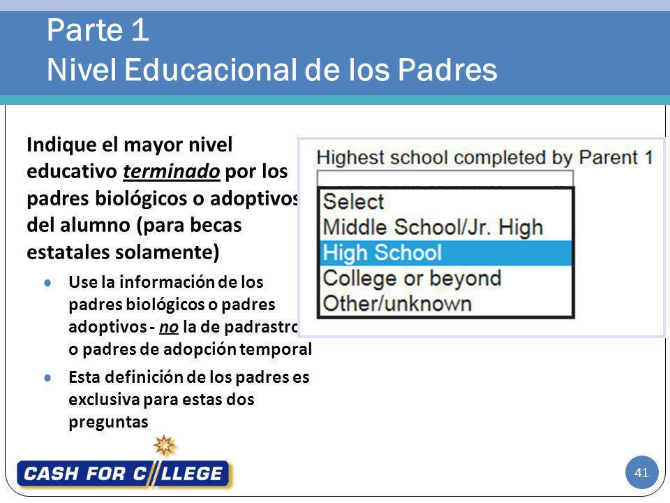 Parte 1 Nivel Educacional de los Padres