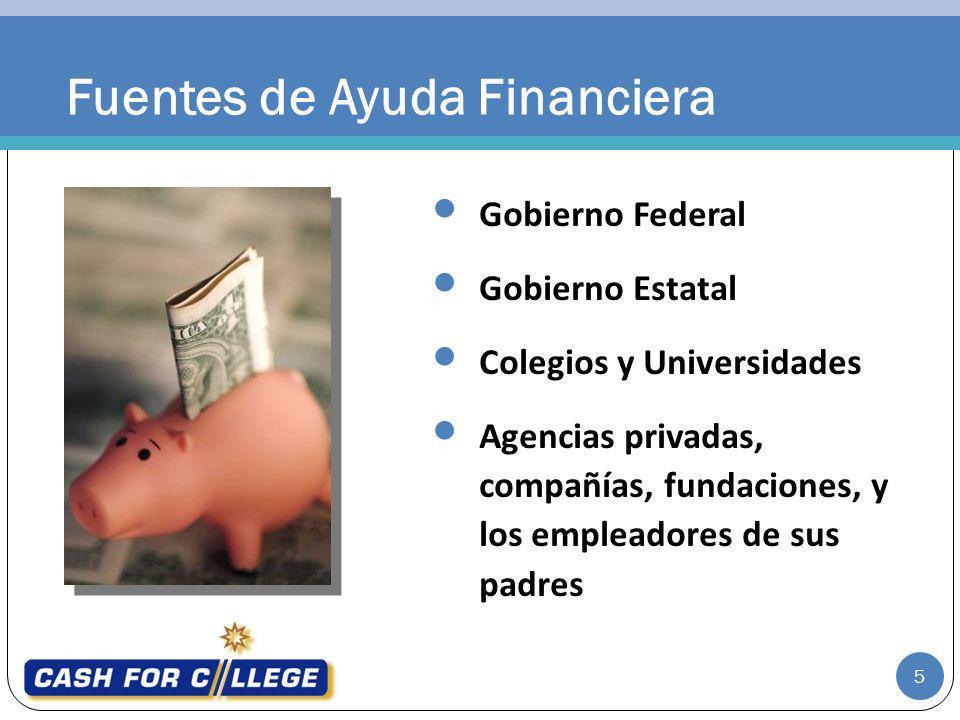 Fuentes de Ayuda Financiera