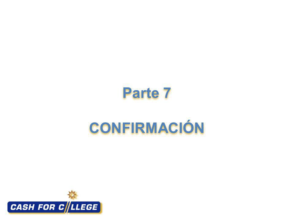 Parte 7 CONFIRMACIÓN Section 7: Confirmation