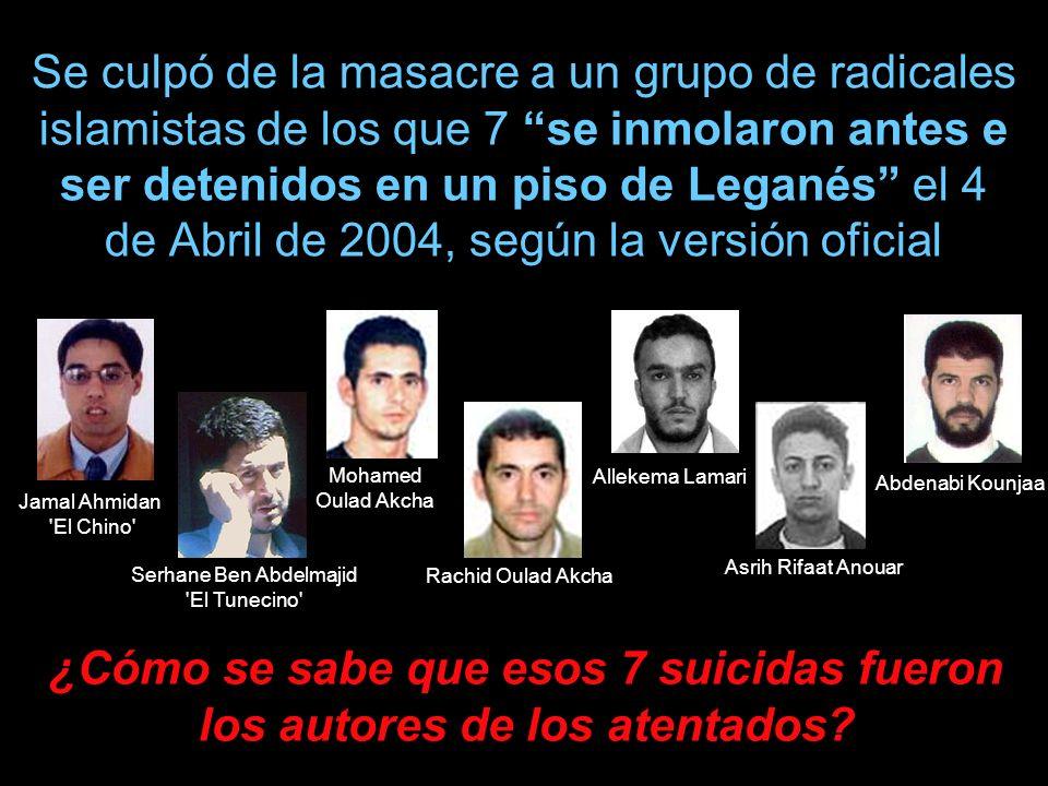¿Cómo se sabe que esos 7 suicidas fueron los autores de los atentados