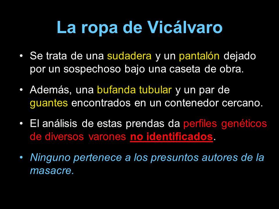 La ropa de Vicálvaro Se trata de una sudadera y un pantalón dejado por un sospechoso bajo una caseta de obra.