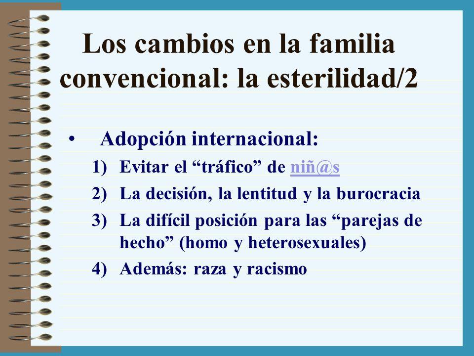 Los cambios en la familia convencional: la esterilidad/2