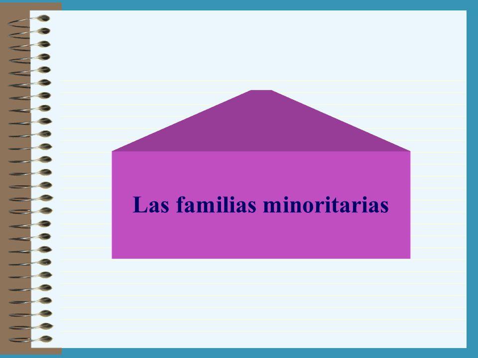 Las familias minoritarias