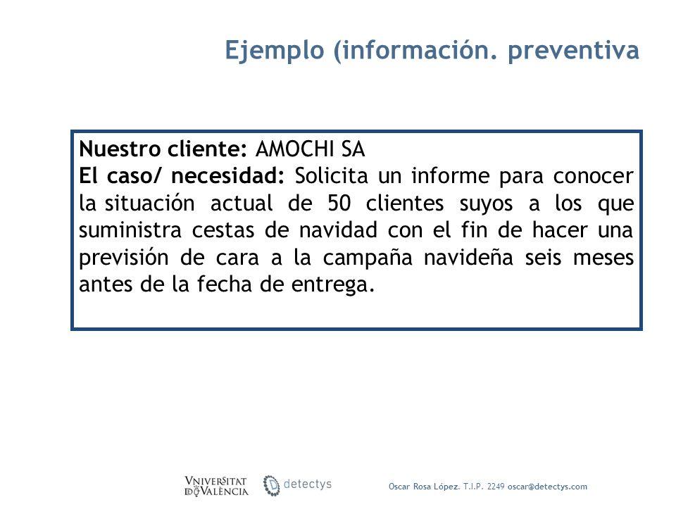 Ejemplo (información. preventiva