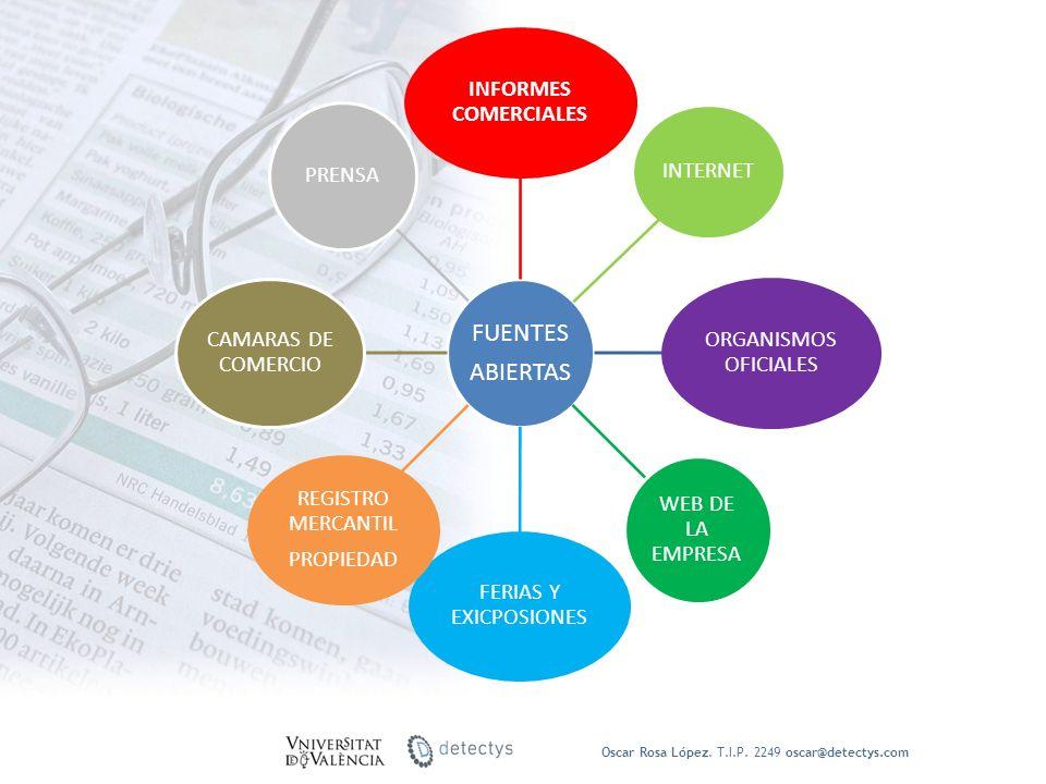 FUENTES ABIERTAS INFORMES COMERCIALES INTERNET ORGANISMOS OFICIALES