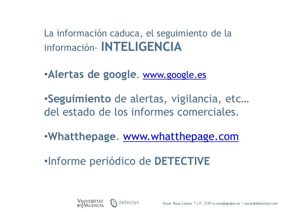 Alertas de google. www.google.es