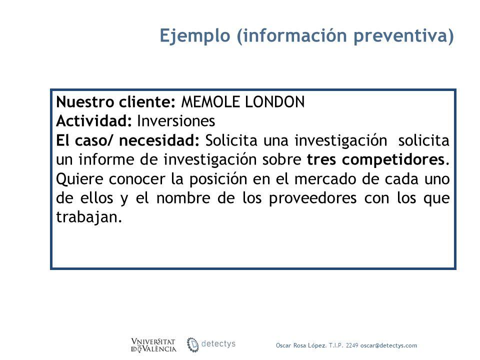 Ejemplo (información preventiva)