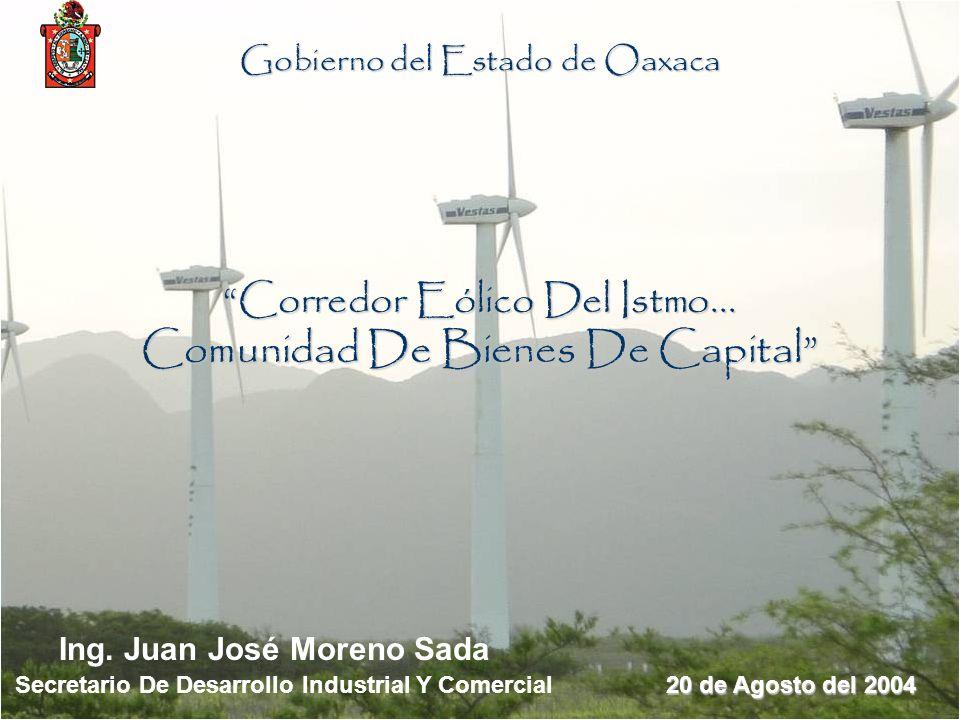 Corredor Eólico Del Istmo... Comunidad De Bienes De Capital