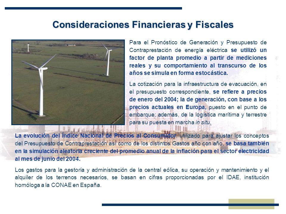 Consideraciones Financieras y Fiscales