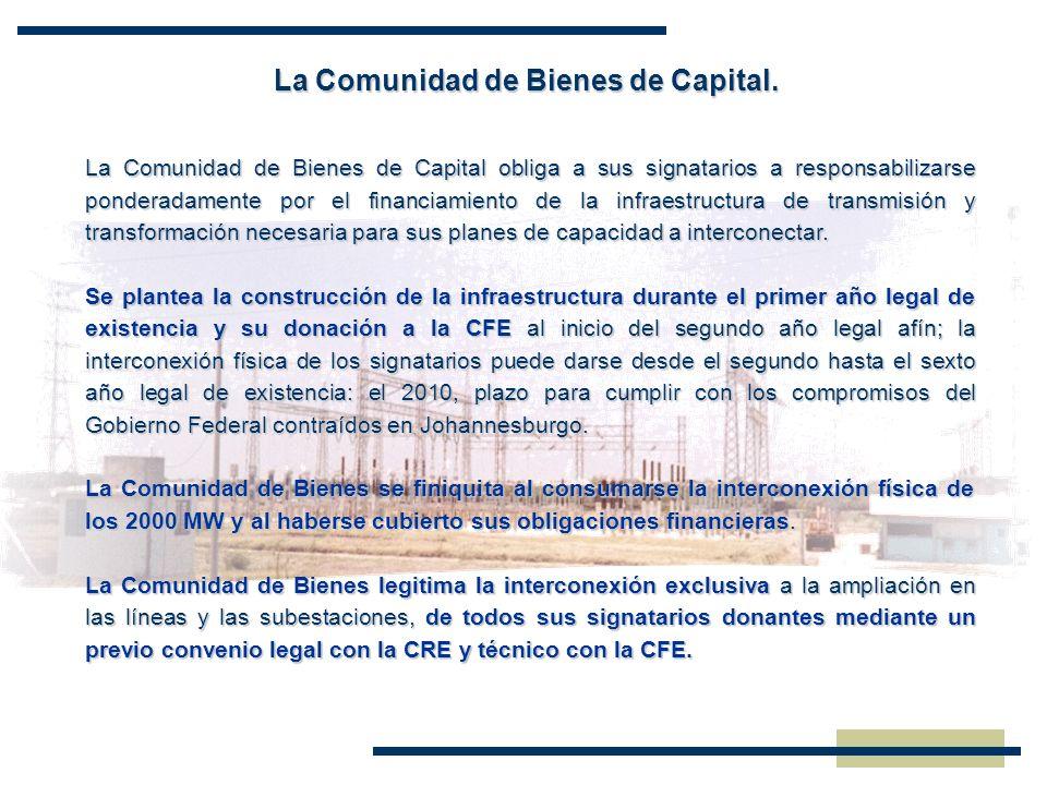 La Comunidad de Bienes de Capital.