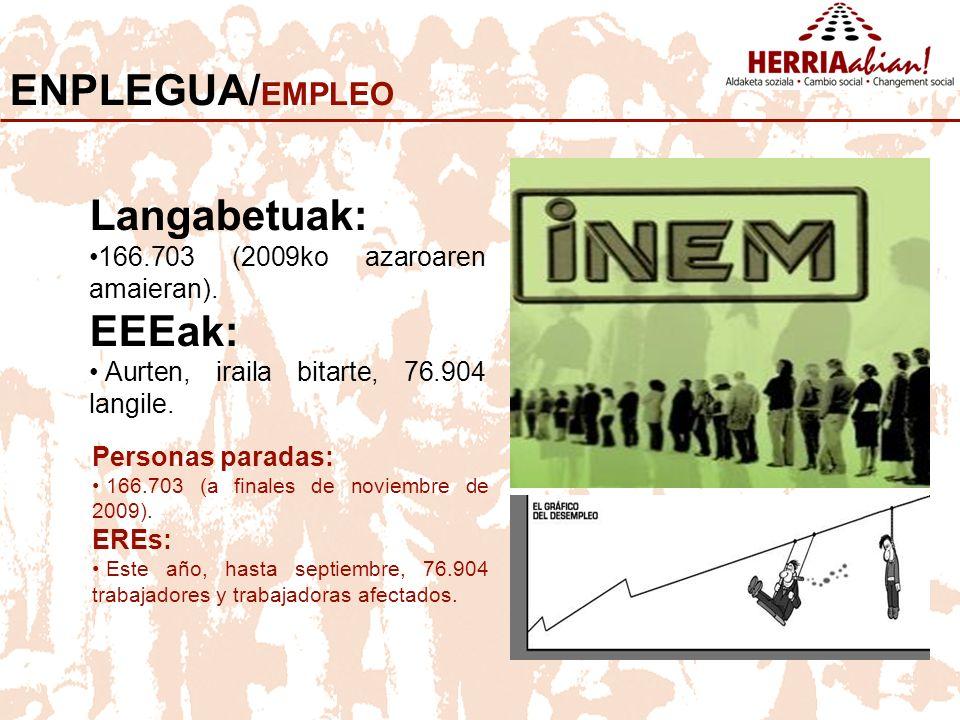 ENPLEGUA/EMPLEO Langabetuak: EEEak: