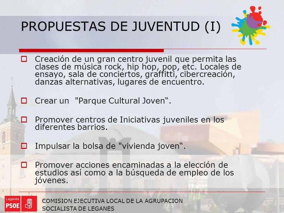 PROPUESTAS DE JUVENTUD (I)