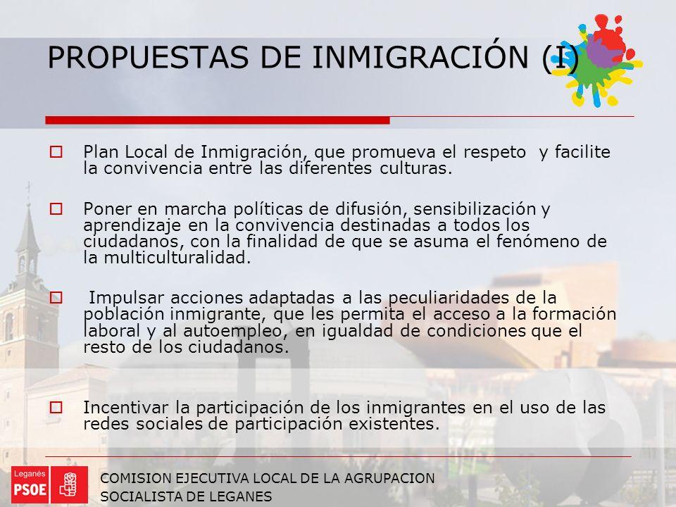 PROPUESTAS DE INMIGRACIÓN (I)
