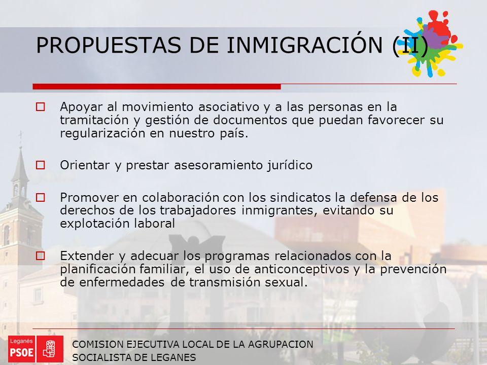 PROPUESTAS DE INMIGRACIÓN (II)
