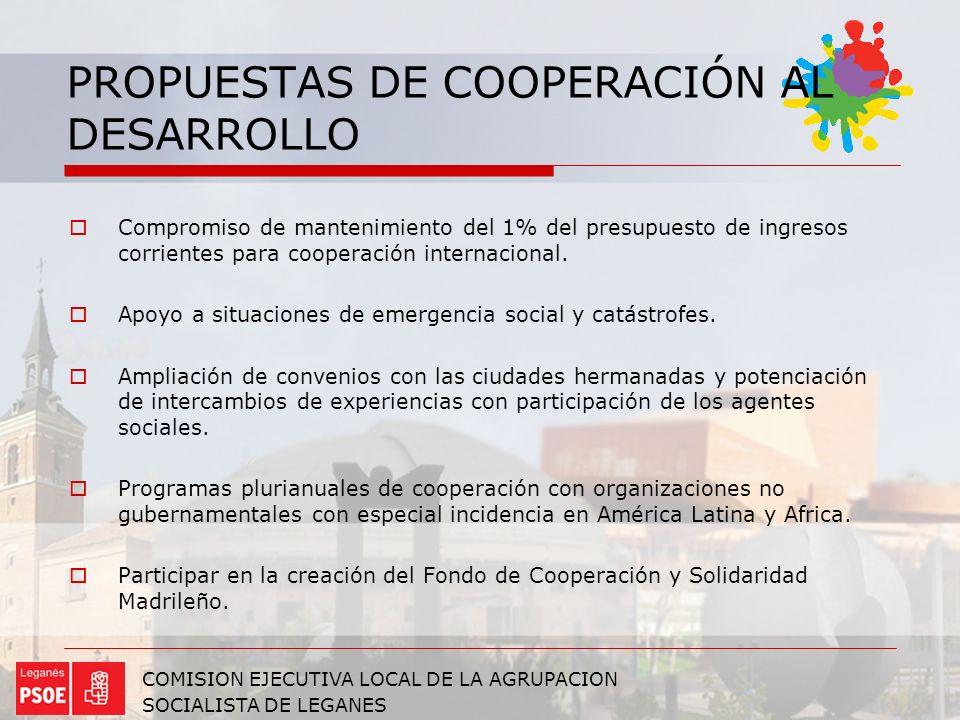 PROPUESTAS DE COOPERACIÓN AL DESARROLLO