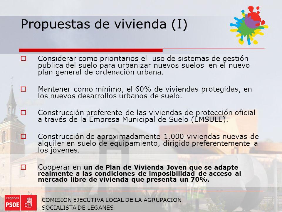 Propuestas de vivienda (I)