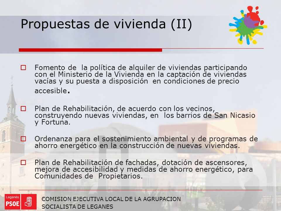 Propuestas de vivienda (II)