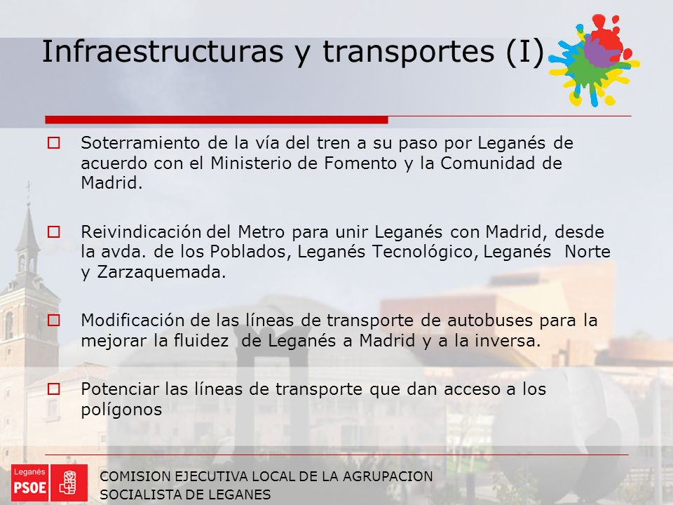Infraestructuras y transportes (I)