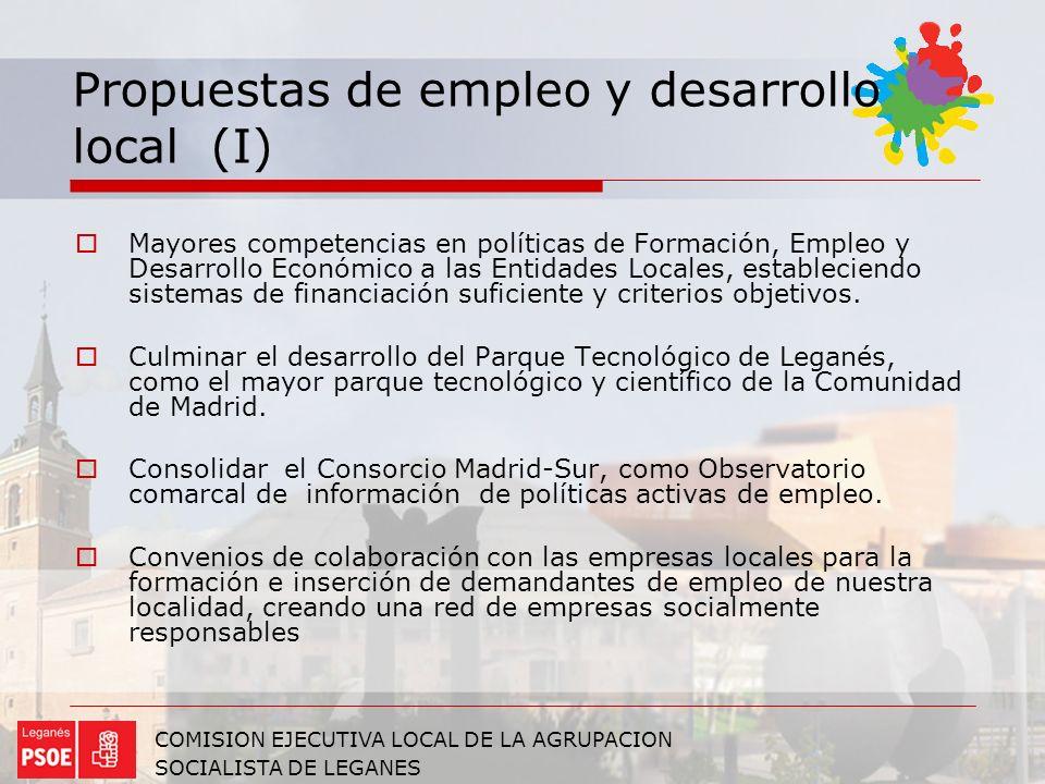 Propuestas de empleo y desarrollo local (I)