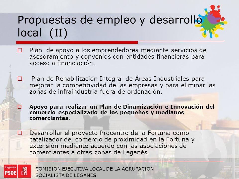 Propuestas de empleo y desarrollo local (II)