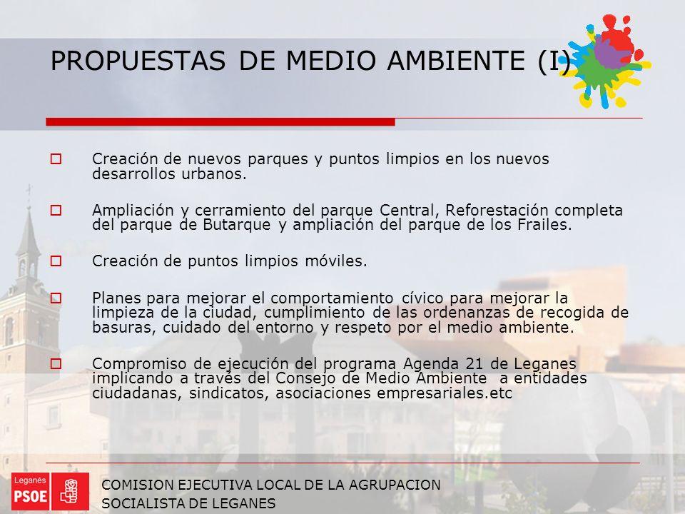 PROPUESTAS DE MEDIO AMBIENTE (I)