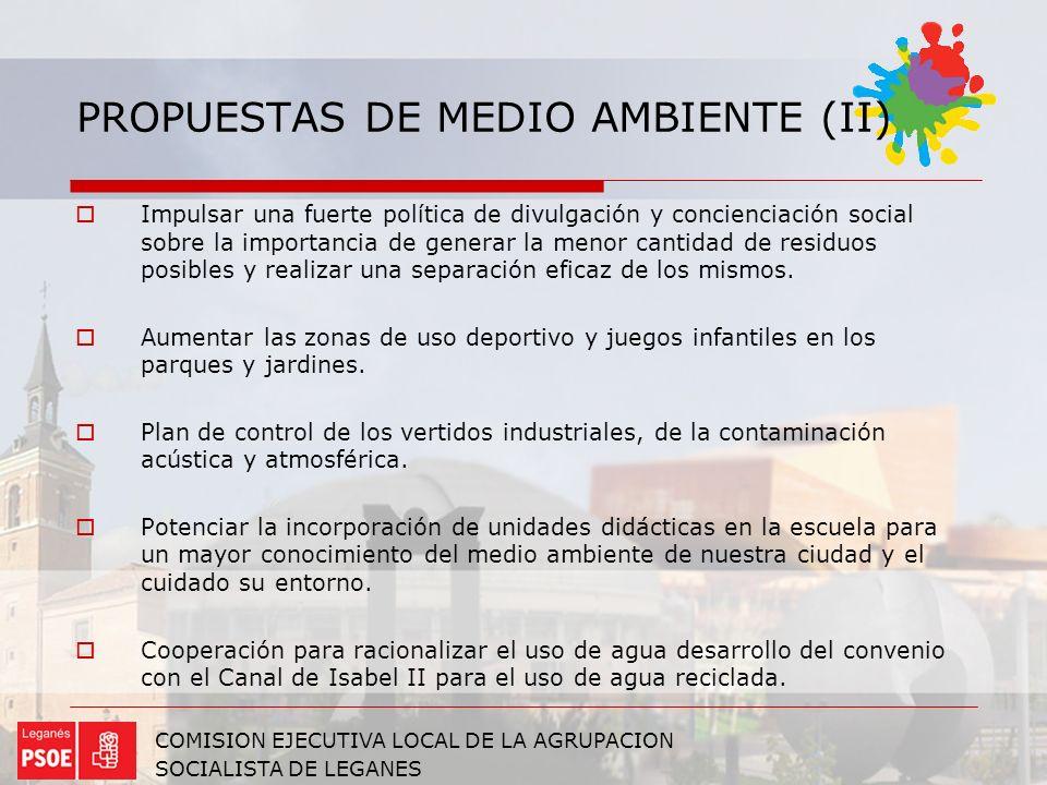PROPUESTAS DE MEDIO AMBIENTE (II)