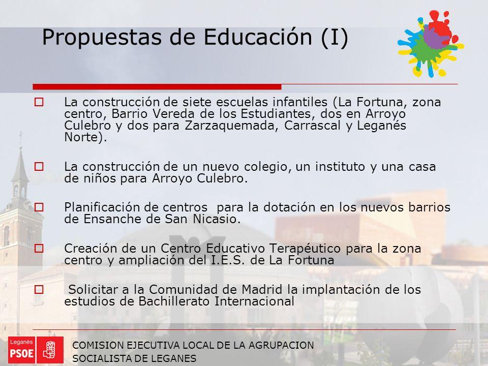 Propuestas de Educación (I)