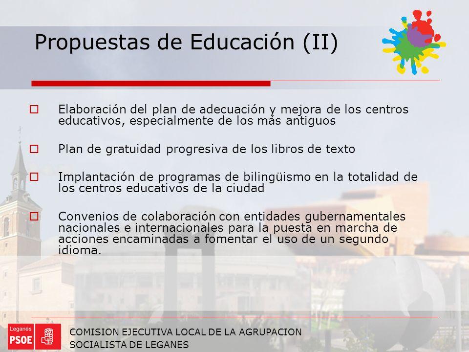 Propuestas de Educación (II)