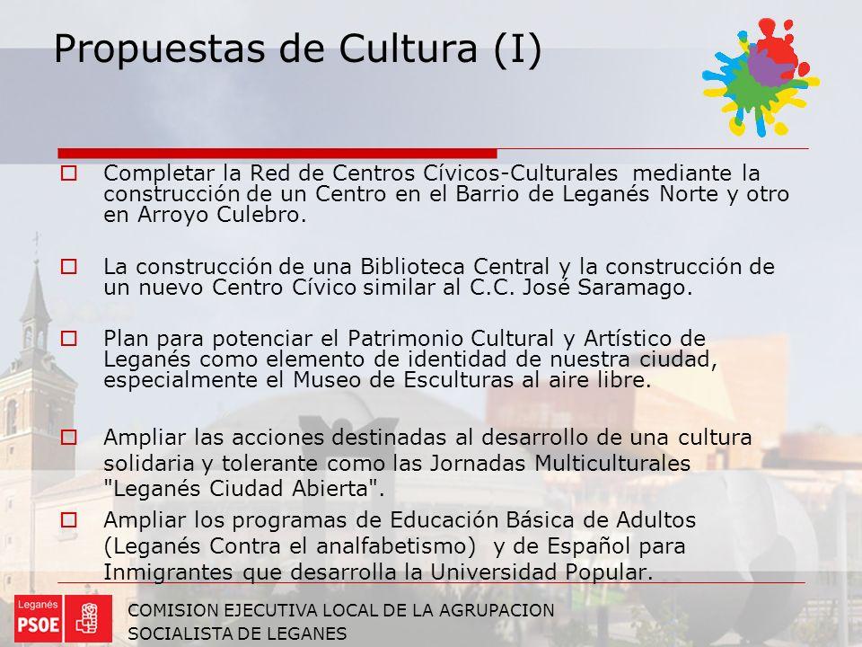 Propuestas de Cultura (I)