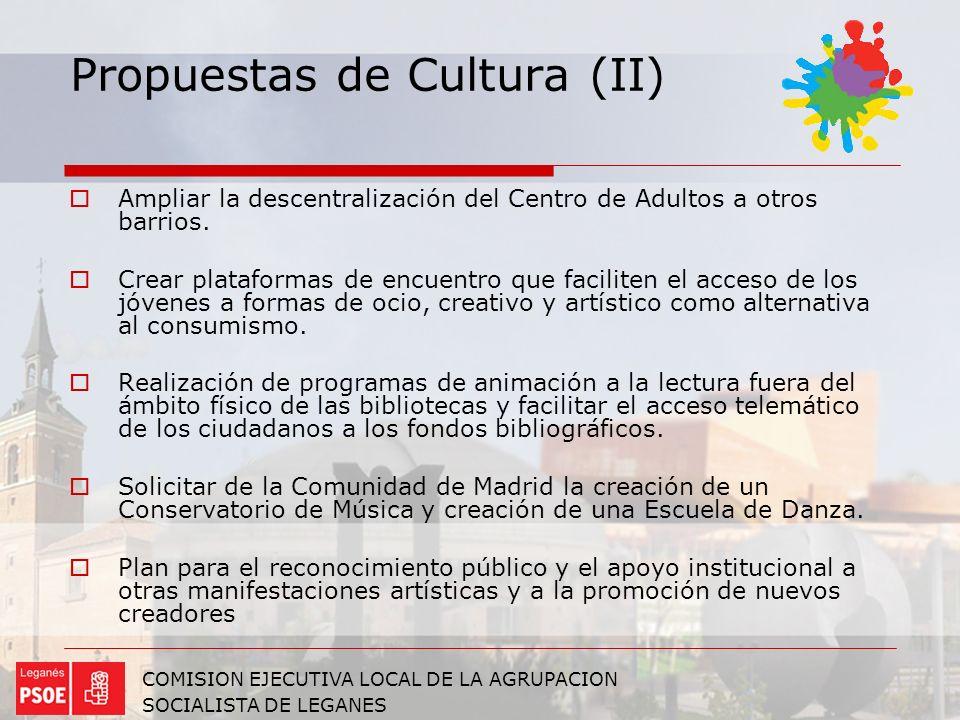 Propuestas de Cultura (II)