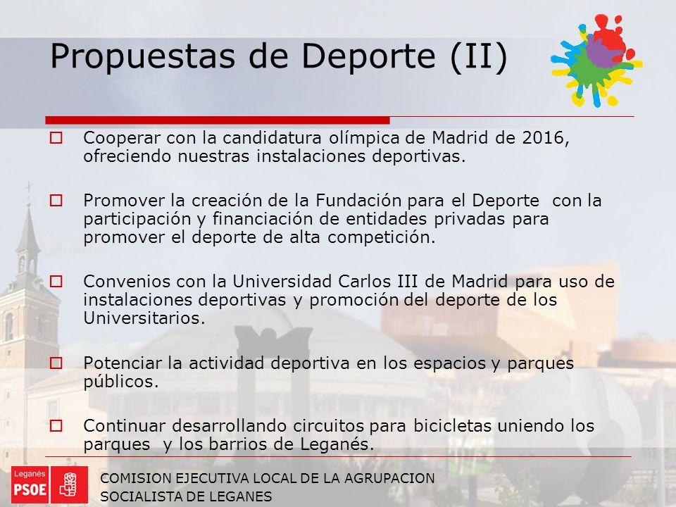 Propuestas de Deporte (II)