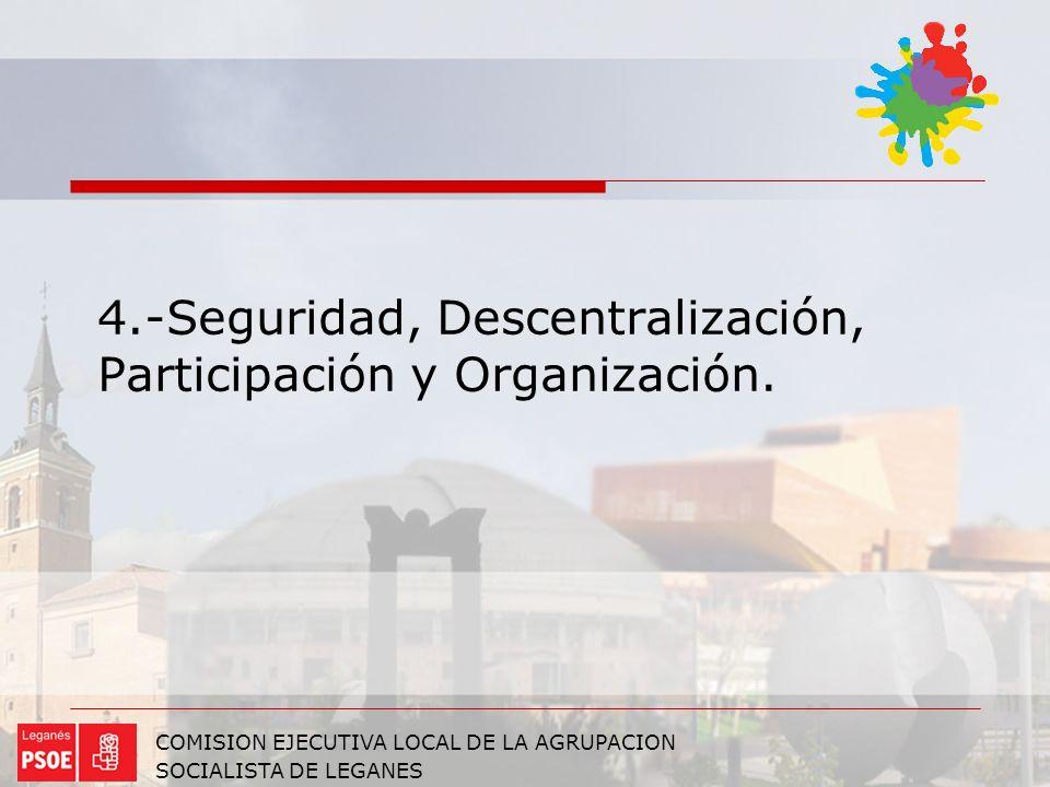4.-Seguridad, Descentralización, Participación y Organización.